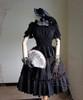 Co-ordinates Show (hat: P00574, choker: AD00606, blouse: TP00060, fan: P00580, skirt: V00002N, birdcage petticoat: UN00019)
