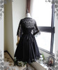 Shadow Grove, Elegant Gothic Lolita Elaborate Chantilly Lace Short Jacket/Bolero*2colors Instant Shipping