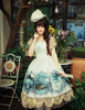 Model Show (Fairy Mint Ver.) (dress set: DR00182, birdcage petticoat: UN00019, fan: P00580)