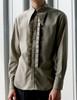 Vintage Men Shirt Long Sleeve Shirt Vintage Aristocrat Fashion Grey Khaki