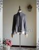 Steampunk Long Sleeve Shirt Linen Shirt Blouse Grey Khaki