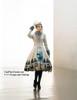 Model Show inside dress DR00182, DR00187, hat P00540, shawl P00611