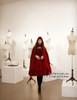Model View: corset dress DR00066R, cape CT00208R