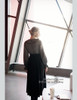 Last Chance: Vintage Embroideried Dress Long Black Dress Pleated Collar Retro Fashion