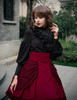 Steampunk High Waisted Skirt Steampunk Vintage Bustle Skirt*black,burgundy