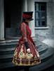 Model Show (Burgundy Ver.) hat P00614, dress DR00189
