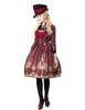 Model Show (Redish black+Burgundy Version) blouse TP00125N hat P00614 dress DR00189