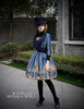 Model Show (Dark blue Ver.) (hat: P00614, jacket CT00268, blouse TP00150, leggings: P00182)