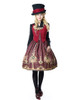 Model Show (Redish black+Burgundy Version) blouse TP00125N hat P00614