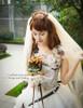 Model Show (corset: Y00041, skirt & bustle belt: SP00176, bouquet: P00620)