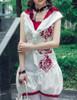 Last Chance: Lolita Jumpsuit Romper Summer Outfit Scarf Set Black White Blue