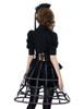 Model View (Black + Brown Ver.) corset & brooch Y00032N bloomers UN00025 shrug CT00229N hat P00624