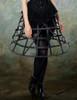 Model View (Black + Brown Ver.) corset & brooch Y00032N bloomers UN00025