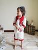 Model View (White+ burgundy flockings) blouse F00003N