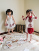 Bunny Alice Lolita Parent-Child Clothes Cutie Tiered Bustle Ruffle Short Bloomers for Kids*Burgundy+ White Instant Shipping