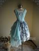 Front View when Sash be worn as skirt piece (Pale Blue + Mint Blue Chiffon Ver.) (birdcage petticoat: UN00027)