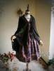 Front View when Sash be worn as shawl (Pale Purple + Black Chiffon Ver.) (birdcage petticoat: UN00027)