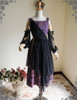 Front View when Skirt Piece tied on waist (Pale Purple + Black Chiffon Ver.)
