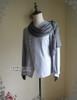 Side View  (light linen/cotton blend in light grey + grey crepe chiffon Ver.)