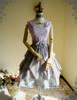 Front View (Misty Rose + Fairy Blue Ver.) (overdress worn as a high waist skirt: DR00201, birdcage petticoat: UN00027)