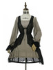 Front View (Antique Grey + Black Jagged Knitting Fabric Ver.) (birdcage petticoat: UN00019)