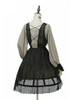 Back View (Antique Grey + Black Jagged Knitting Fabric Ver.) (birdcage petticoat: UN00019)