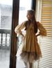 Model Show (Antique Ivory + Gold Ivory Mixed Lace Fabric Version) Corset & Irregular Bottom Skirt Set SP00186
