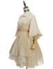 Side View  (Antique Ivory + Gold Ivory Mixed Lace Fabric Version) Petticoat UN00026