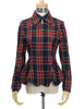 Front View of Jacket (Dark Blue & Red Plaid Version)