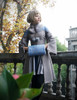 Model Show (Grey + Dark Blue Version) coat CT00280 fur collar P00630 muff: P00631
