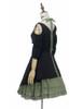 Side View (black jacquard cotton + sage green crepe cotton ver.) (birdcage petticoat: UN00027)