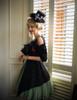 Model Show  (black jacquard cotton + sage green crepe cotton ver.) hat P00549N