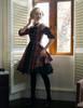 Model Show (dark blue & red plaid brushed cotton + black crepe cotton ver.)