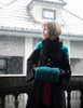 Model Show (Teal Green & Antique Orange Mixed Ver.) (coat: CT00280, silk dress: S03024, fur shawl: P00630)