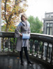 Model Show (Light Blue & Antique Pink Mixed Ver.) (coat: CT00280, silk dress: S03024, fur shawl: P00630)