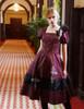 Model Show (Burgundy + White Bows & Prints Ver.) (brooch: P00627, bloomers: UN00024N, petticoat: UN00027)