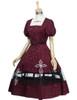 Front View (Burgundy + White Bows & Prints Ver.) (birdcage petticoat: UN00019)