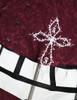 Detail View (Burgundy + White Bows & Prints Ver.) (birdcage petticoat: UN00019)