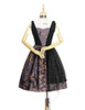 Front View (Pale Purple + Black Chiffon & Beaded Starlight Tulle Ver.) Petticoat UN00026
