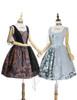 Vintage Lolita Printed Retro Midi Dress Ancient Greek Goddess No Sleeve Summer Dress