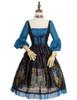 Front View w/o Cape (Black + Peacock Blue Ver.) (petticoat: UN00026)