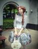 Vintage Lolita Retro Rococo Fashion Midi Skirt Womens Stained Glass Windows Jacquard Skirt