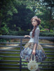 Model Show (Light Grey + Golden Silver Illusion Tulle Version) Top TP00137N, Corset SP00186, Tote NOT for sale