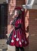 Model Show (Burgundy Ver.) (dress: DR00245, underdress: DR00187, petticoat: UN00026, wristlets: P00530)