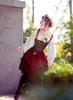 Model Show (Burgundy Ver.) (headdress: P00622, blouse: TP00175, corset vest: Y00037, neck ribbon from TP00172, petticoat: UN00027, shoes: D00012)