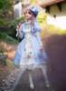 Model Show (Sky Blue + White Ver.) (hat: P00644, blouse: TP00173, wristlets: P00530, petticoat: UN00026)