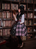 Model Show (Pink & Black Plaid Ver.) (hat: P00604, blouse: TP00167, petticoat: UN00019)