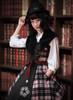 Model Show (Pink & Black Plaid Ver.) (hat: P00604, brooch on hat: P00605, blouse: TP00167, petticoat: UN00019)