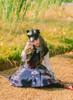 Model Show (Dark Blue & White Plaid Ver.) (hat: P00642, blouse: TP00173, petticoat: UN00019, shoes: D00012)