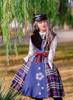 Model Show (Dark Blue & White Plaid Ver.) (hat: P00642, blouse: TP00173, petticoat: UN00019)